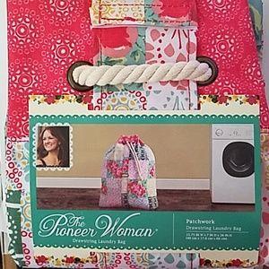 Pioneer Woman Patchwork Drawstring Laundry Bag